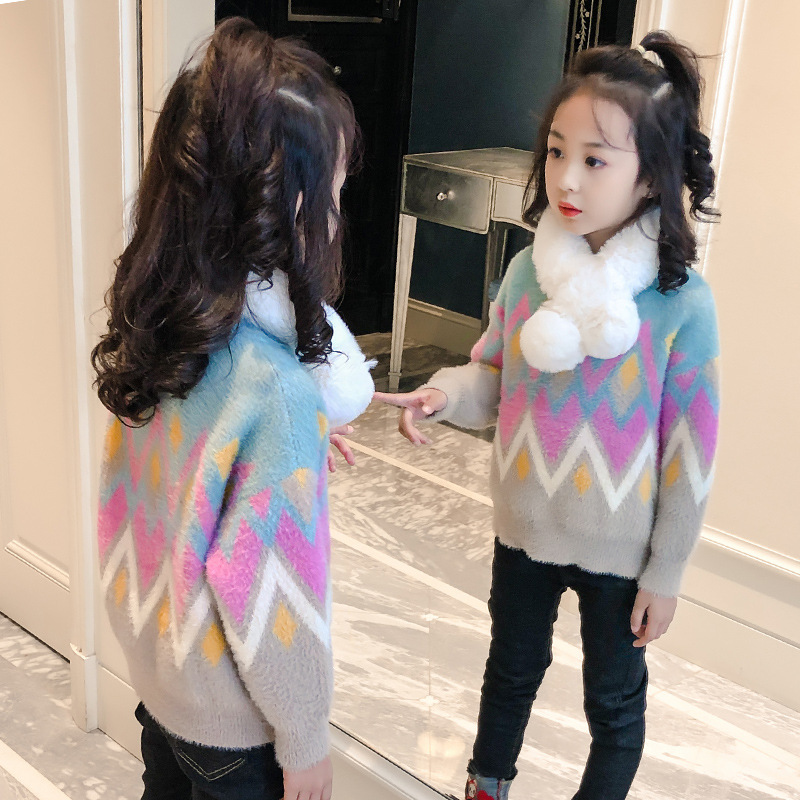 Girls Sweaters New Children Clothing Baby Kids Sweet Sweater Knitting Girls Pullover Cardigan 4 12Y Fashion Girls Jumper in Sweaters from Mother Kids