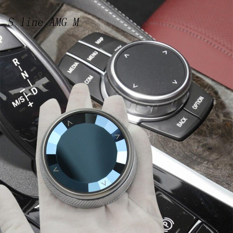 Автомобильный Стайлинг Кристалл мультимедиа кнопки переключатель ручка крышка наклейка для BMW 5 6 7 серии G30 G38 G32 X3 G01 X4 G02 автомобильные аксес...