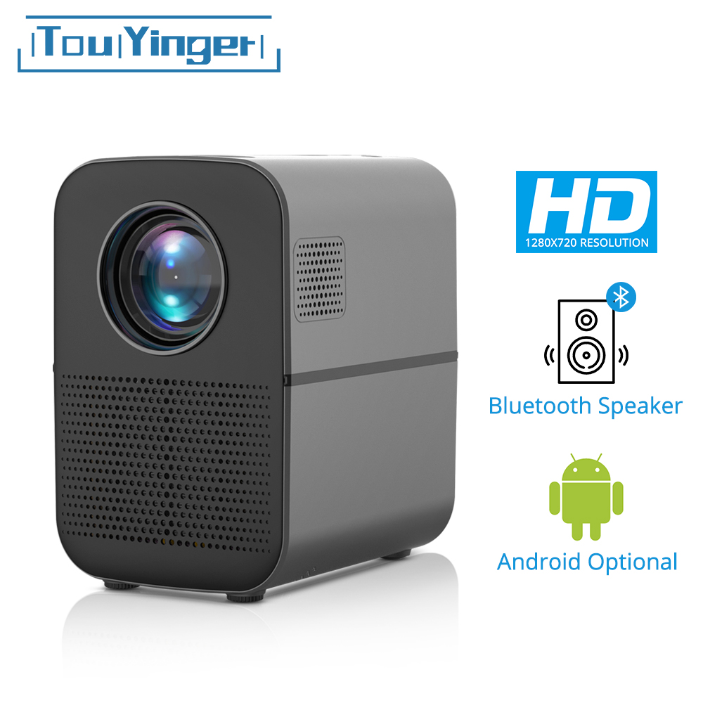 TouYinger T7 HD LED Home Projector Bluetooth, 1280x720 Support Full HD Video USB Beamer For Cinema, 3500 Lumens Android Optional