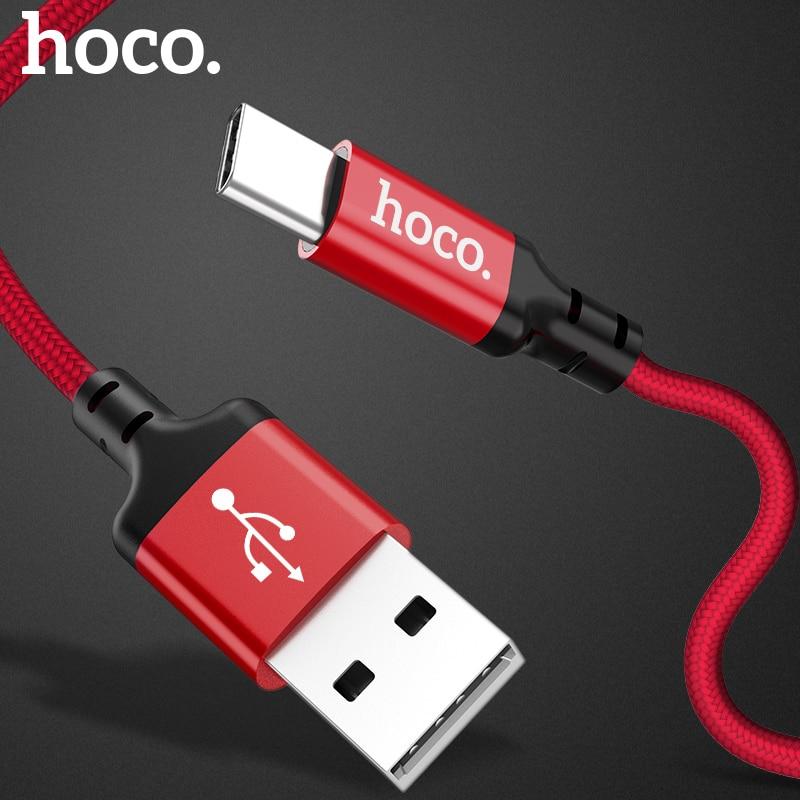 HOCO Original USB Type C Cable 2A USB C Cable Fast Charging Data Cable Type C USB Charger Cable For Galaxy S8 Plus Xiaomi 6 Mi5|type c cable fast|cable for|cable fast charging - AliExpress