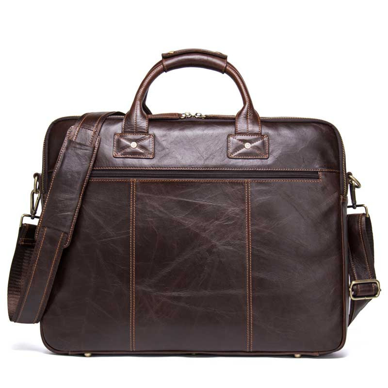 Genuine Messenger Bag Men Leather Man Handbag Can Dress 15.6 Inch Portable Computer Business Affairs Briefcase Designer Luxury