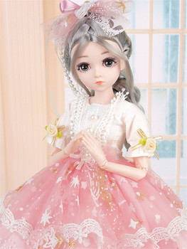 BJD Doll 1/4 26 Dream Fairy Jointed Doll with Clothes Outfit Shoes Wig Hair Makeup Gift for Girls Music Handmade Girls Toys cute animal outfit for bjd doll 1 12 pukipuki doll clothes