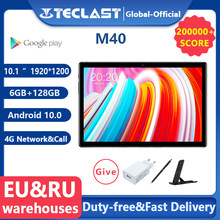 Teclast M40 10.1'' Tablet 1920x1200 4G Network UNISOC T618 Octa Core 6GB RAM 128GB ROM Tablets PC Android 10 Dual Wifi Type-C