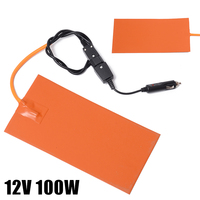 12V 100W Silicone Heating Pad 152mmx304mm Flexible Moisture Proof Heater Mat for 3D Printer Heat Pad|Electric Heating Pads| |  -