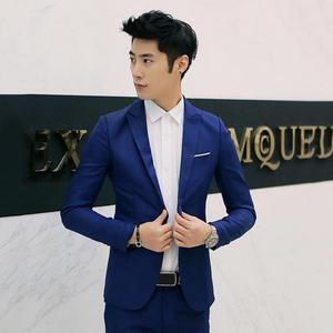 Jacket Suit One-Button-Suit Wedding Casual Coat Business Men's Fashion Slim Lapel Hot-Sale