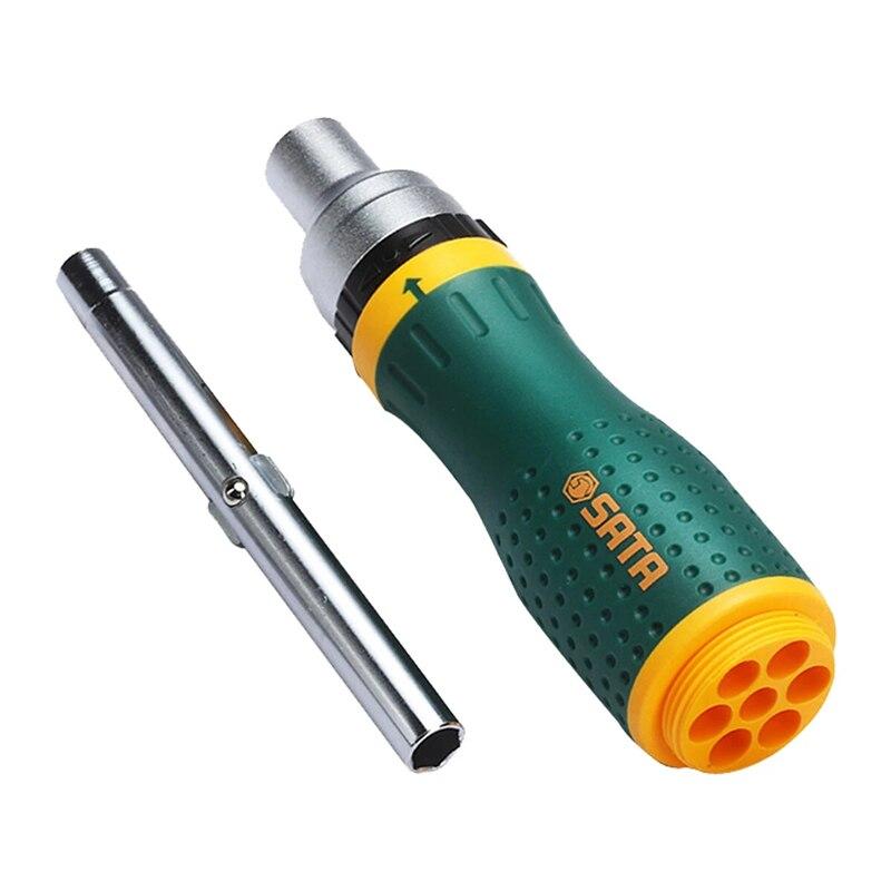 Tools : SATA 19 in 1 Multifunctional Ratchet Screwdriver Set W  8 Bits Repair Tools Kit
