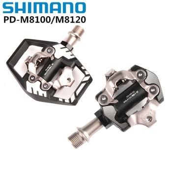 Shimano-pedales para bicicleta de montaña, Deore XT, PD-M8100, carrera, SPD, PD-M8120, con tacos de SM-SH51