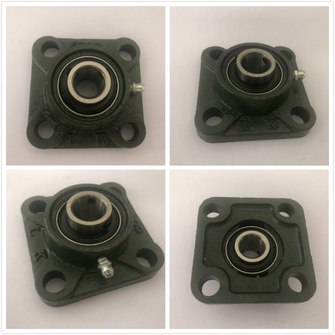 UCF201/UCF202/UCF203/UCF204/UCF205  Housing 4 Bolt Mounted Bearing Bore Square Flange Pillow Block