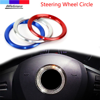 Car Styling Decoration Ring Steering Wheel Circle Sticker For Bmw X5 E70 X6 E71 E72 G20 G30 G31 G38 G15 G32 G11 G12 G01 G02 G05 image