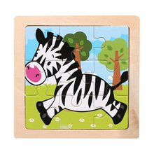 цена Mini Size Kids Toy Wood Puzzle Wooden 3D Puzzle Jigsaw For Children Baby Cartoon Animal Traffic Puzzles Educational Toy онлайн в 2017 году