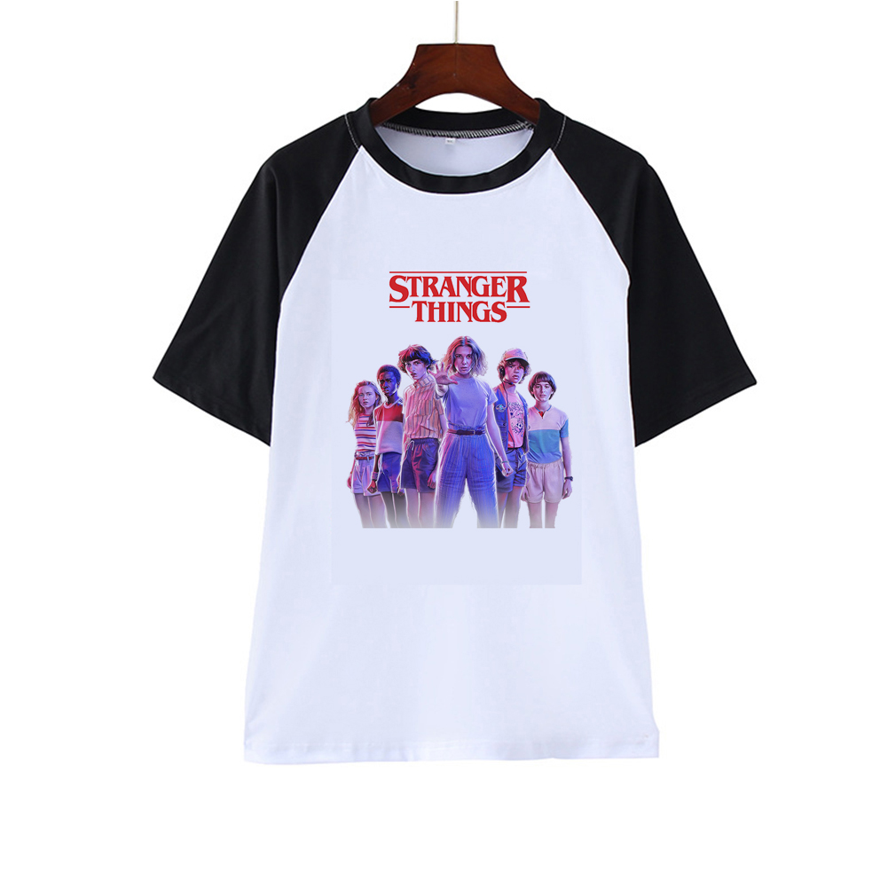 Newest Stranger Things Printed Tshirt Summer Upside Down Eleven Vogue T Shirt Short Sleeve Fashion Clothing Top Tees Ropa Mujer