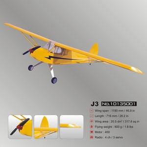 Image 5 - J3 電動リモートコントロール航空機すべての光 wood 固定翼のような航空機グライダー模型飛行機 8
