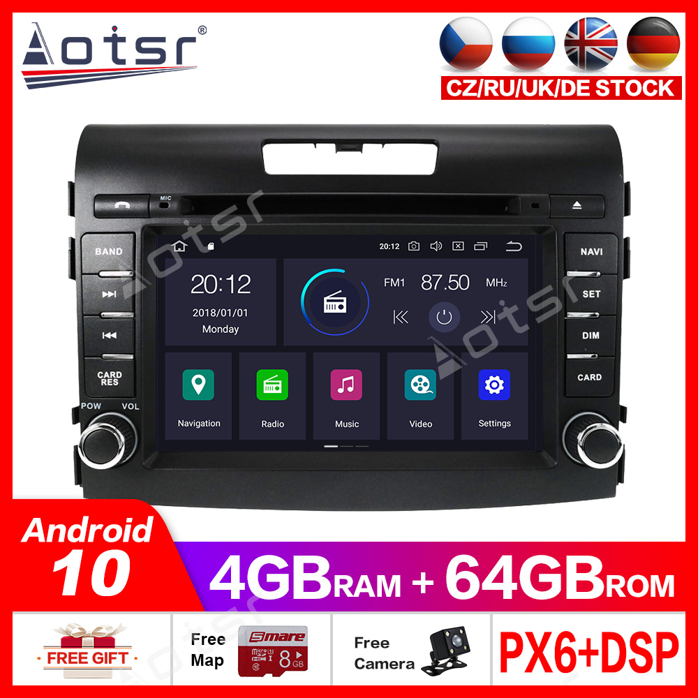 Android 10.0 4G+64GB Car <font><b>multimedia</b></font> DVD Player GPS Radio For <font><b>Honda</b></font> <font><b>CRV</b></font> <font><b>2012</b></font>-2016 CAR GPS Navigation stereo Video player headunit image