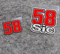 Marco Simoncelli 58 Sic-calcomanías de vinilo para motocicleta, calcomanía de carreras, calcomanías de coche, accesorios para Scooter, Dirt Bike