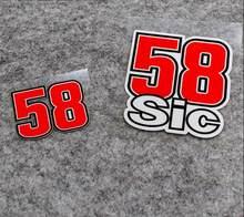 Виниловые наклейки Marco Simoncelli 58 Sic, наклейки на Мотогонки, наклейки на мотоцикл, аксессуары для скутера, внедорожника