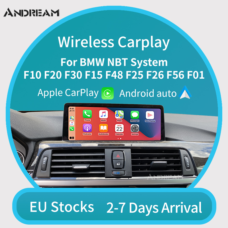 Wireless Apple CarPlay Android Auto for BMW NBT F10 F20 F30 X1 X3 X4 X5 X6 F48 F25 F26 F15 F56 MINI Series1 2 3 4 5 6 7 Air play(China)