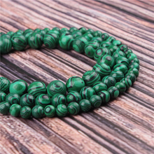 Hot Sale Natural Stone Green Malachite 15.5 Pick Size 4/6/8/10/12mm fit Diy Charms Beads Jewelry Making Accessories