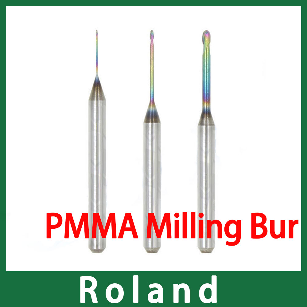 Roland Milling Burs Special For Milling Resin Materails Like PMMA, PEEK Etc.