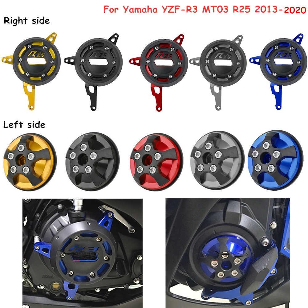 YZF R25 Motor Sisi Kiri & Kanan Mesin Pelindung Cover Frame Slider untuk Yamaha MT-03 YZF-R3 YZF-R25 MT-25 2013-2020