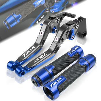 For YAMAHA TMAX530 TMAX500 T MAX T-MAX 530 500 2008-2017 Motorcycle Adjustable Folding Brake Clutch Lever Handle Grips End