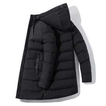 Parkas de invierno para hombre,abrigo grueso acolchado de algodón,chaqueta acolchada, chaqueta con...