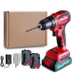 21V Borstelloze Elektrische Boor Accuschroevendraaier Oplaadbare Home Power Tool 3/8 Inch Met 2000Mah Makita Batterij & Boor bit