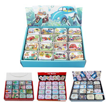 12Pieces/Lot Portable Mini Metal Tin Box Multiple Pattern Printing Mac Makeup Jewelry Pill Storage Box With Lid Gift Packing Box