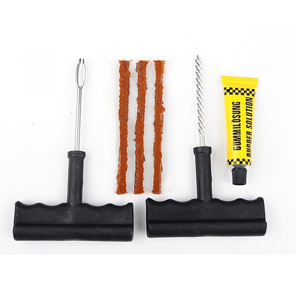 Automotive Tire Repair Kits Practical Vacuum Tires Motorcycle Fast Tire Repair Strips 6pcs Repair Tools