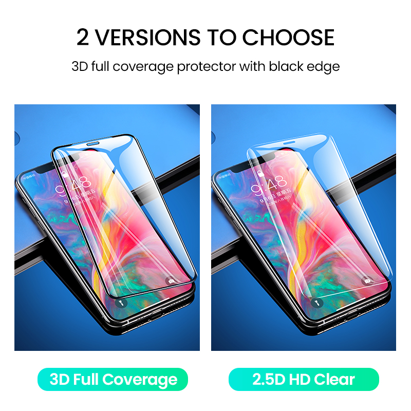 New Clear Screen Protector HD Full Coverage Glass Film For iPhone 11 Pro Max 5