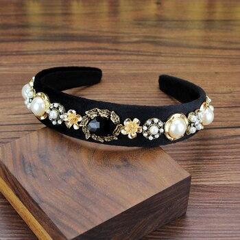 Korean Fashion Luxury Sparkly Gray Crystal Bridal Hairband Stone Rhinestone Wedding Headband For Women Hair Accessories Jewelry 6