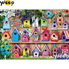 Quadrado completo/broca redonda pintura diamante birdhouses 5d diy diamante bordado mosaico decoração pintura bx0640