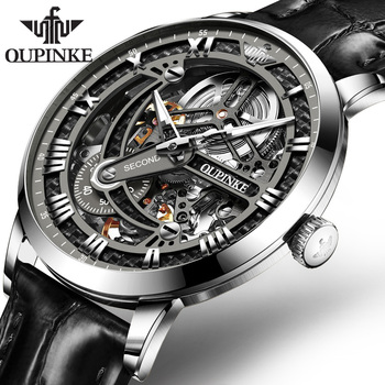 OUPINKE Swiss Tourbillon Skeleton Mechanical Watch 1