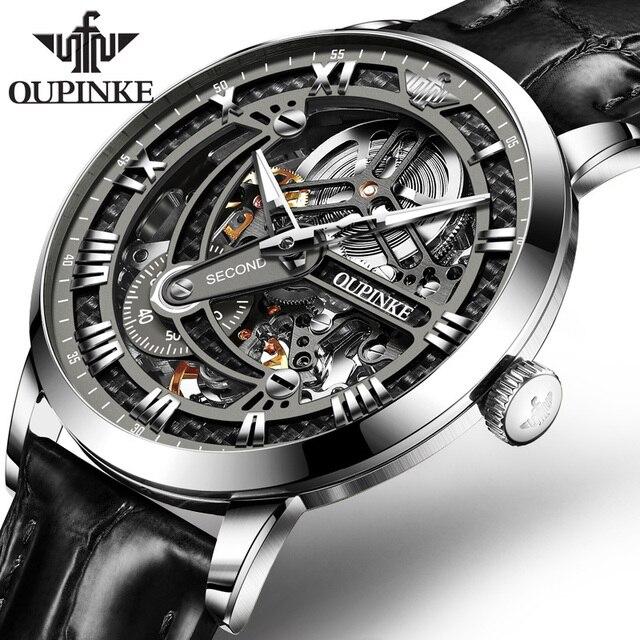 OUPINKE Swiss Tourbillon Skeleton Mechanical Watch 1