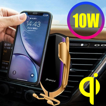 Automatic Clamping 10W Car Wireless Charger For iPhone Xs Huawei LG Infrared Induction Qi R1 Wireless Charger Car Phone Holder image