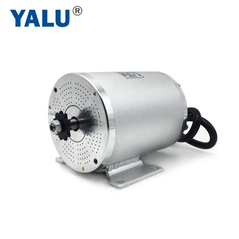 YALU BM1109 BLDC Motor Bürstenlosen 60V Elektromotor 1800W Elektrische Ebike Mitte Drive Motor Für Elektrische Fahrrad Roller motor Kit