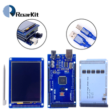 "Gratis Verzending! 3.2 ""Tft Lcd Touch Screen Display 320X240 ILI9341 + 3.2 Inch Shield + Mega 2560 R3 Met Usb kabel voor Arduino Kit"