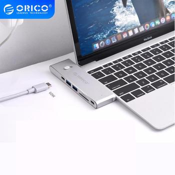 ORICO USB C HUB Dual Type C to Multi USB 3.0 HDMI TF/SD 60W PD Charging Adapter Thunderbolt 3 Dock USB Splitter for MacBook Pro