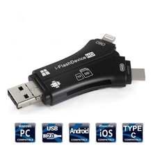Twisterck 4 в 1 iphone/micro usb/usb type c/usb sd кардридер