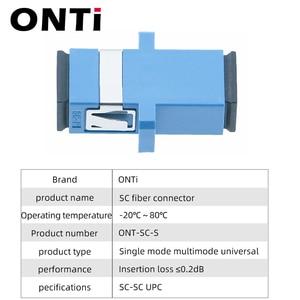 Image 4 - ONTi 200 Pcs  Fiber Optic Connector Adapter SC / UPC SM Flange Singlemode Simplex SC SC APC Coupler Free Shipping Wholesale