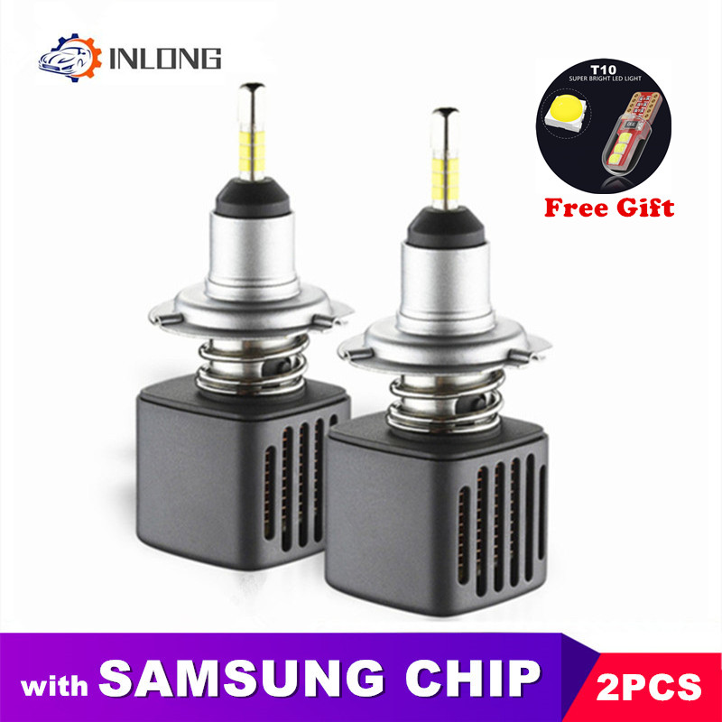 With SAMSUNG Chip 2Pcs D1S H7 Led Bulbs H11 Led Lamp H4 9005 9006 D2S D4S D3S 5500k 6500K Car Auto Headlamp Headlight Fog Lights