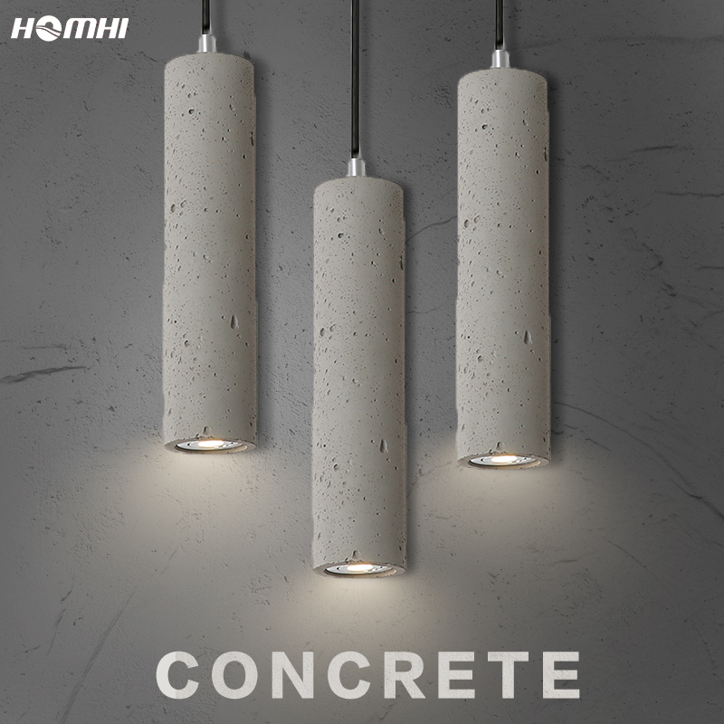 Modern Pendant Ceiling Lamps Chandelier Dining Room Rope Nordic Hanging Lamp Retro Concrete Loft Vintage Pendant Ceiling Lamps