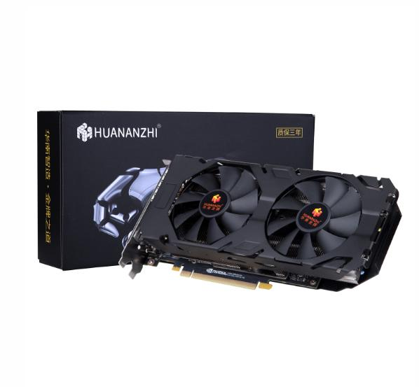 HUANANZHI Black Metal + Plastic RTX2070 8G Graphics Card 256bit GDDR6 Dual Fan Cooling Graphics Discrete Graphics Desktop Graphi