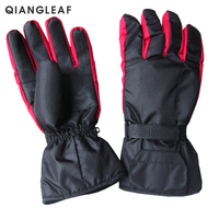 QIANGLEAF Brand Hot Men's Battery Box Electro thermal Ski Gloves Thickened Plus Velvet Warm Windproof Non slip Gloves HD88