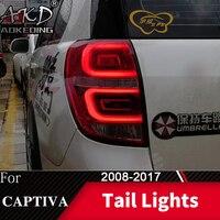Dla samochodów Chevrolet Captiva lampa tylna 2008-2019 LED światła przeciwmgielne światła do jazdy dziennej DRL Tuning akcesoria samochodowe Kaptiva światła tylne