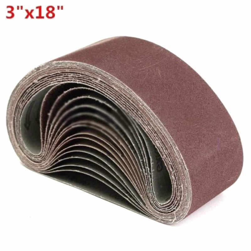 10 Uds. Cinturón de lijado de óxido de aluminio de 75x457mm 40-1000 Grits accesorio de potencia