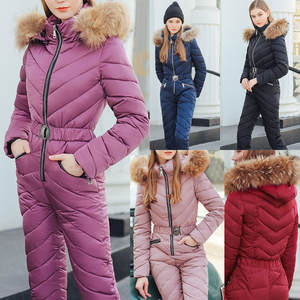 Clothing Jumpsuit Winter Women Pockets Plush-Hoodie Collar Zipper Sports Cotton Casual