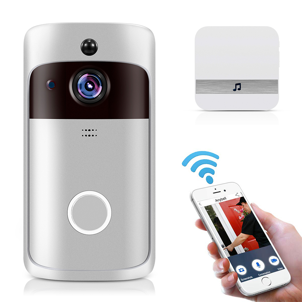 Smart IP Video Intercom WI FI Video Door Phone Door Bell WIFI Doorbell Camera For Apartments IR Alarm Wireless Security Camera-in Doorbell from Security & Protection