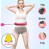 Home Training Smart Sport Hoop With Detachable Adjustable Auto-Spinning Thin Waist Abdominal Exercise Gym Hoop Fitness Equipment