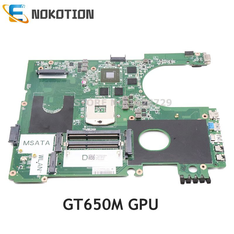 NOKOTION DA0R09MB6H1 REV H CN-072P0M 072P0M For Dell inspiron 17R 7720 laptop motherboard HD4000 GT650M GPU DDR3
