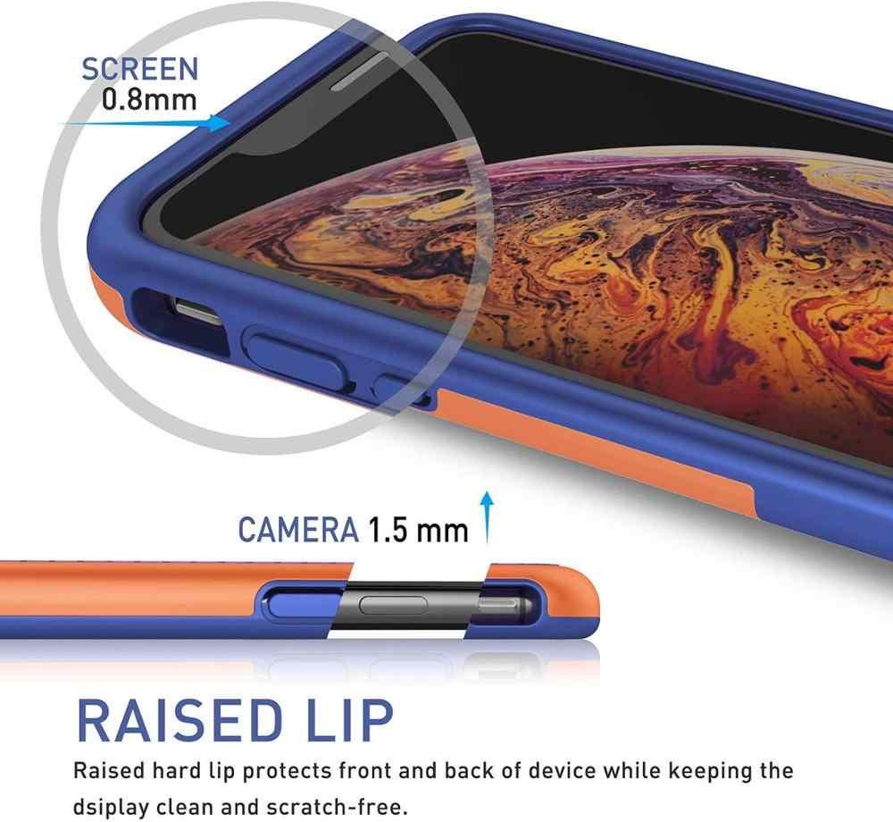 Ultra Slim Gel Rubber Case untuk iPhone 11 Pro XS Max X XR 7 8 6 6S Plus Hybrid silikon Lembut Tahan Lama Tahan Guncangan Penutup Pelindung